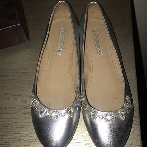 David Tigers wedding flat shoes